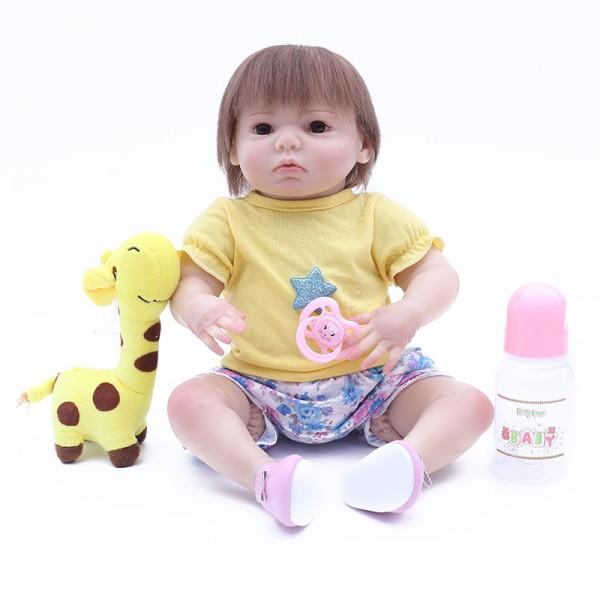 Lifelike Baby Boy Doll Newborn Silicone Realistic Reborn Doll 17inch