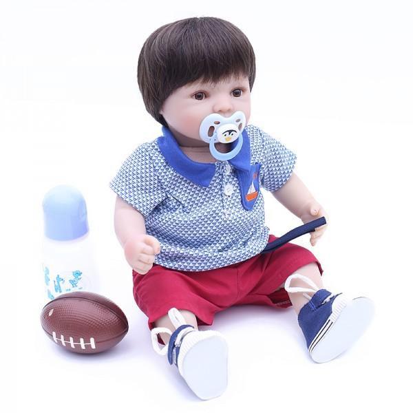 Reborn Baby Boy Doll Lifelike Silicone Realistic Baby Doll 16inch
