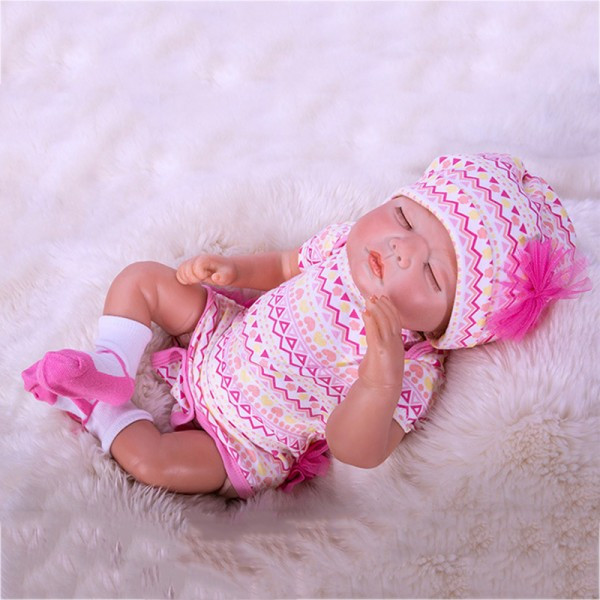 Sweet Dreams Sleeping Baby Doll Silicone Lifelike Reborn Girl Doll 20inch