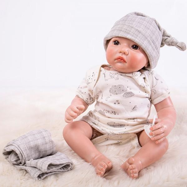 Realistic Reborn Baby Doll Lifelike Silicone Boy Doll 20inch