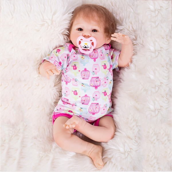 Realistic Reborn Baby Doll Lifelike Silicone Girl Doll 18inch