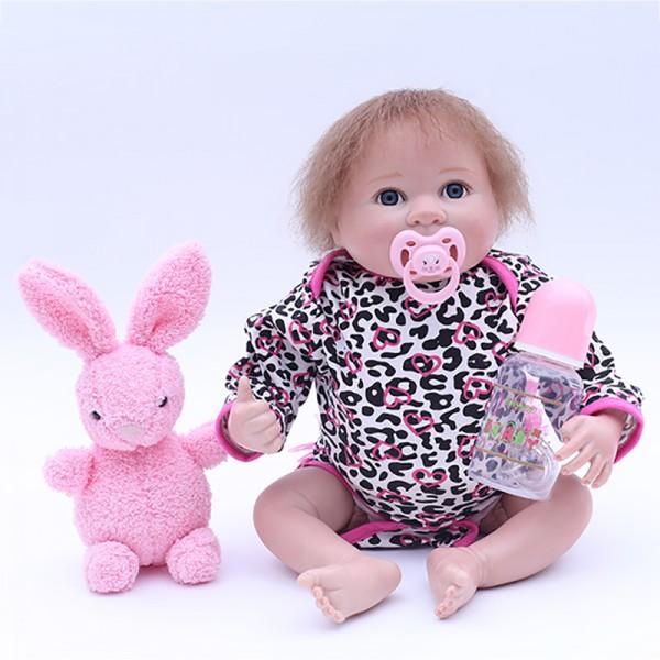Realistic Reborn Baby Dolls Silicone Lifelike Girl Doll 18inch
