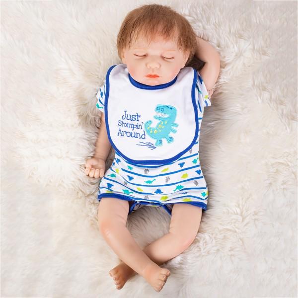 Reborn Sleeping Baby Doll Silicone Lifelike Newborn Boy Doll 20inch