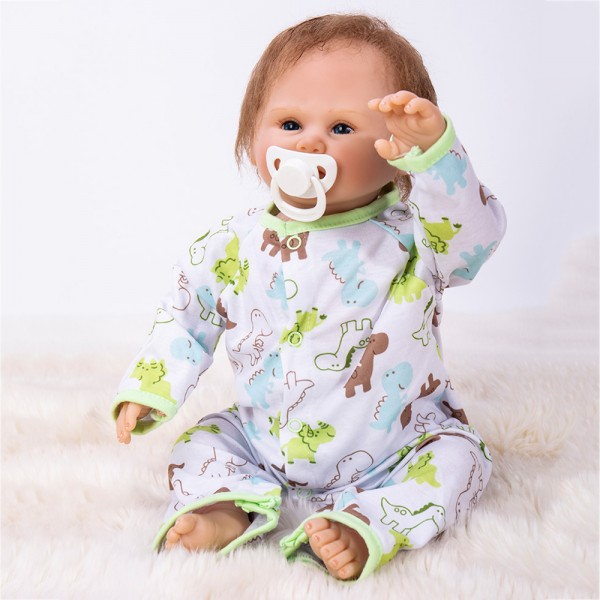 Reborn Baby Doll Boy Lifelike Realistic Silicone Doll 19inch