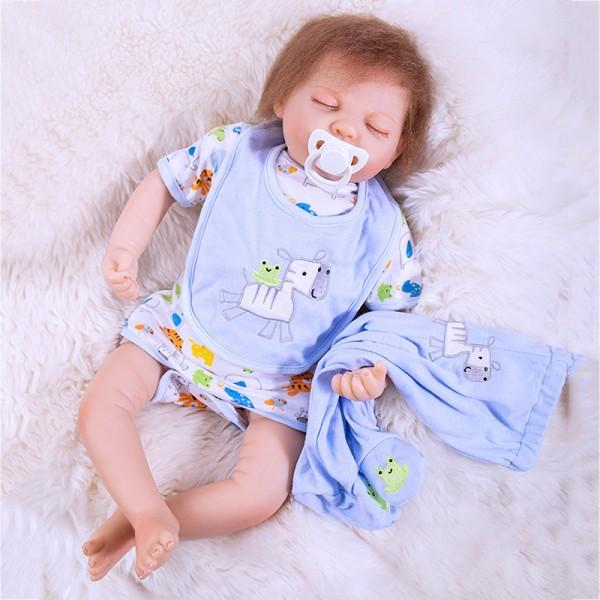 Sweet Dreams Silicone Sleeping Baby Doll Lifelike Reborn Boy Doll 20inch