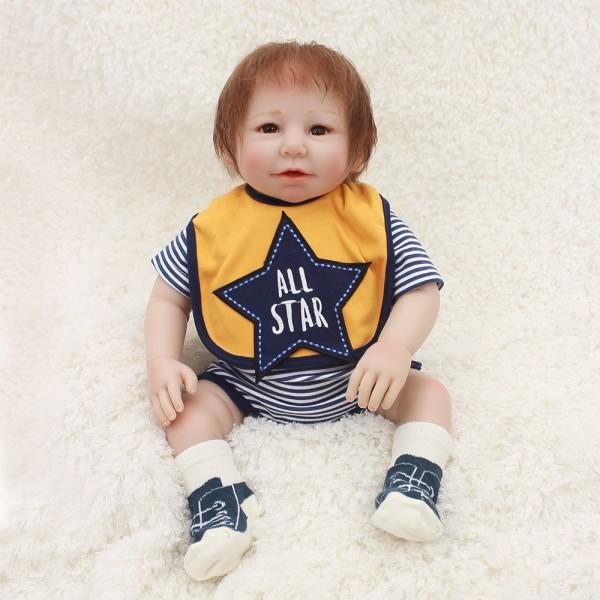Silicone Reborn Baby Dolls Lifelike Realistic Boy Doll 20inch