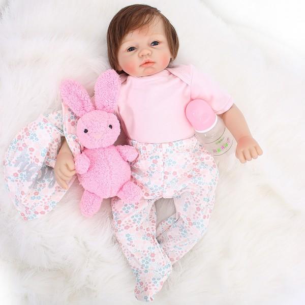 Reborn Baby Girl Doll Lifelike Realistic Silicone Boy Doll 21inch