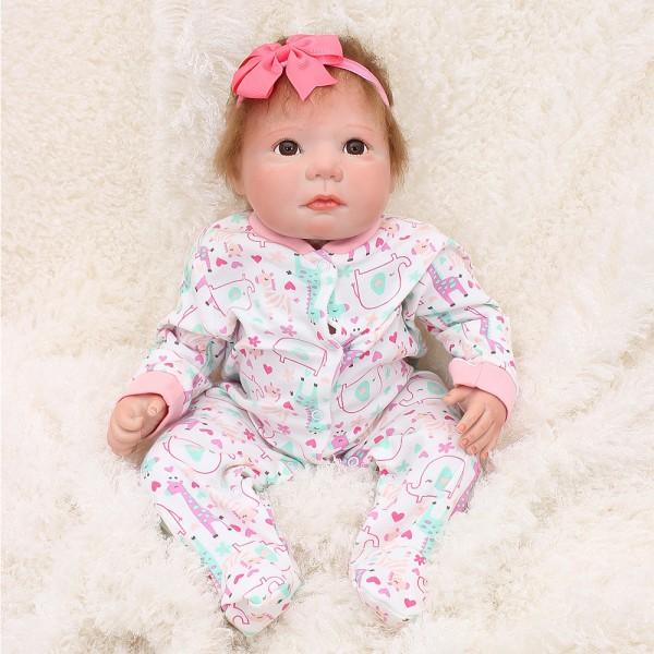 Realistic Reborn Baby Doll Lifelike Silicone Girl Doll 20inch