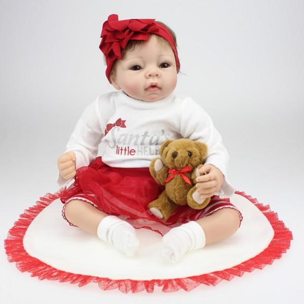 Reborn Baby Doll Lifelike Realistic Silicone Newborn Girl Doll 22inch
