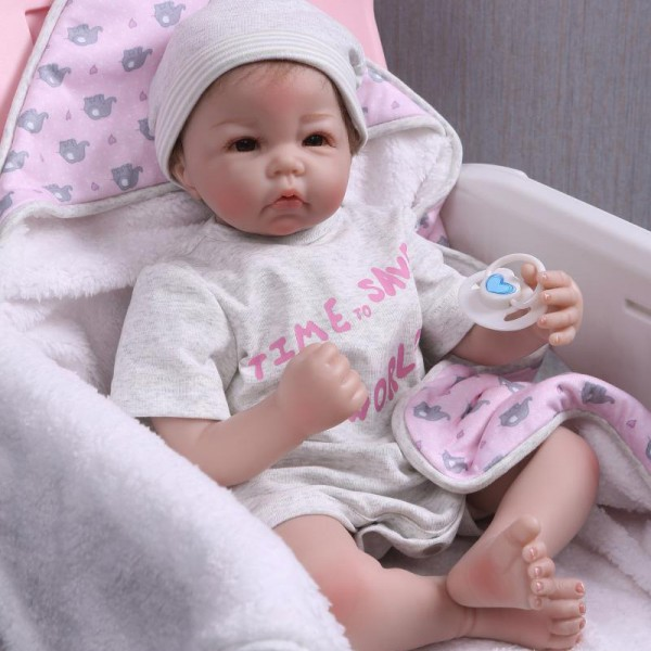 Soft Reborn Baby Doll Poseable Silicone Lifelike Boy Doll 20inch