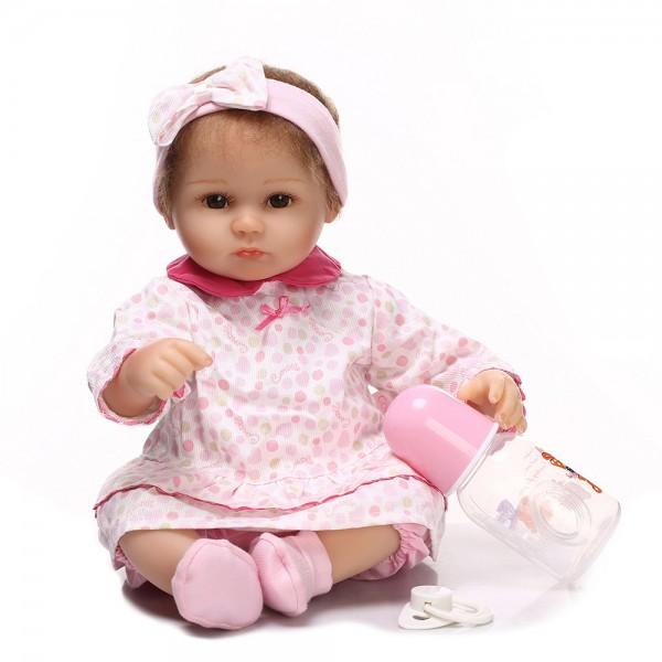 Silicone Reborn Baby Dolls Lifelike Look Real Newborn Cute Girl Doll 16inch