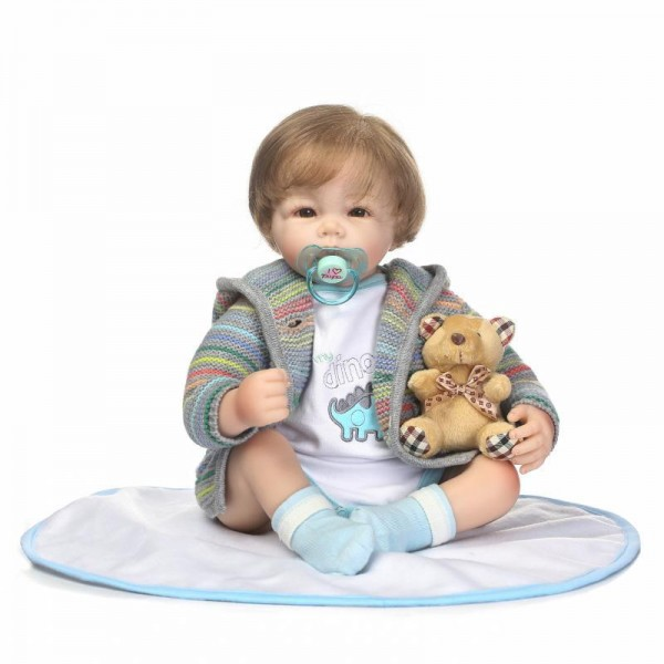 Handsome Reborn Boy Doll Lifelike Look Real Silicone Baby Doll 20inch
