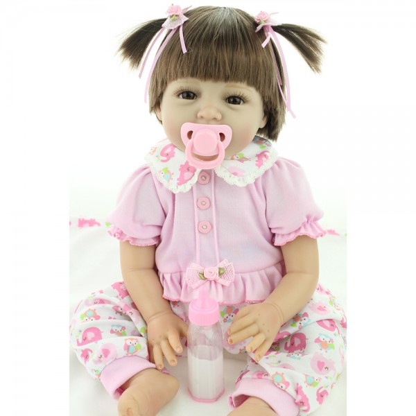Reborn Baby Girl Doll Lifelike Silicone Baby Doll 22inch