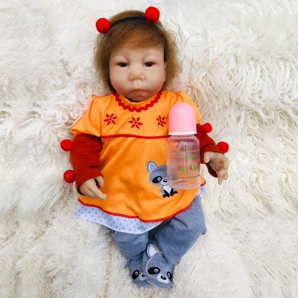 Silicone Reborn Baby Dolls Lifelike Realistic Newborn Boy Doll 18inch