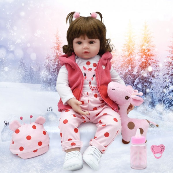 Reborn Toddler Girl Lifelike Realistic Silicone Baby Doll 24inch