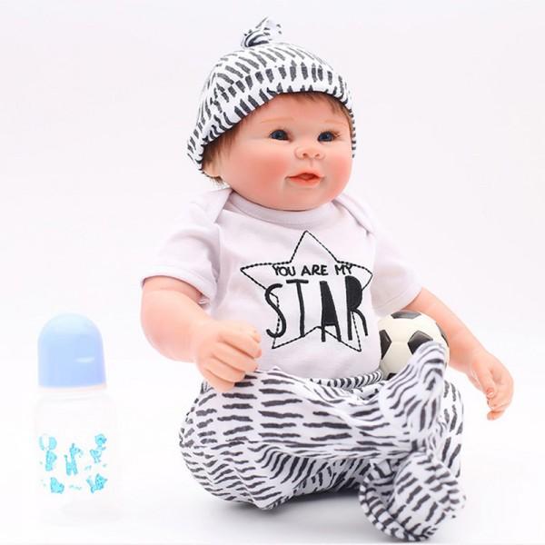 Smile Lifelike Reborn Boy Doll Realistic Silicone Vinyl Baby Boy Doll 20inch
