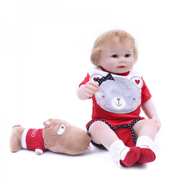 Reborn Boy Doll Lifelike Realistic Silicone Vinyl Baby Doll 19inch
