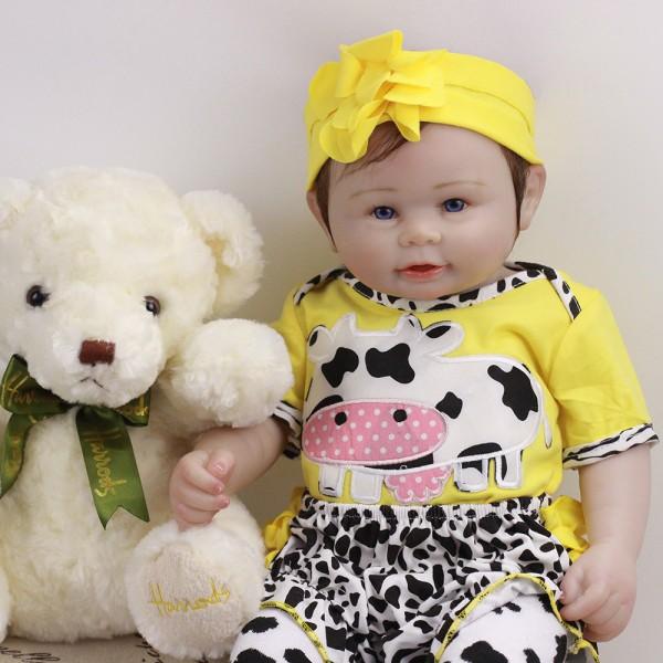 Reborn Boy Doll Lifelike Realistic Silicone Vinyl Baby Doll 18inch With Toy