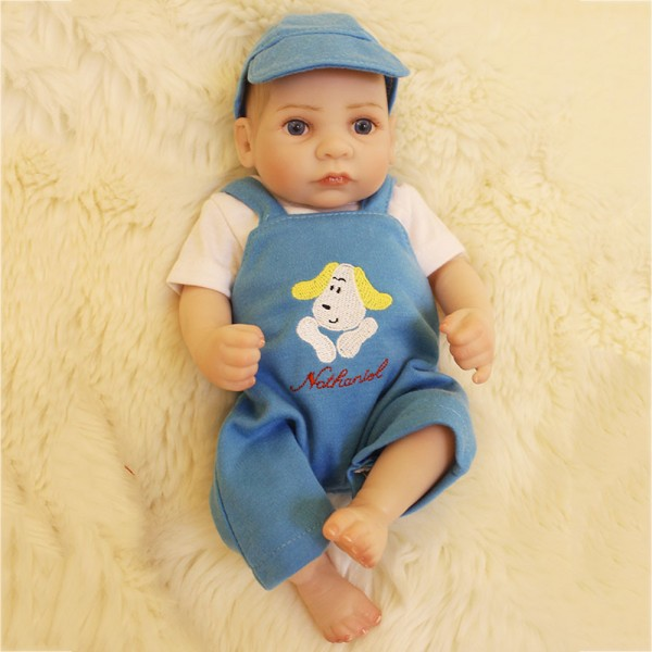 Handsome Reborn Baby Boy Doll Lifelike Realistic Silicone Boy Doll 10inch