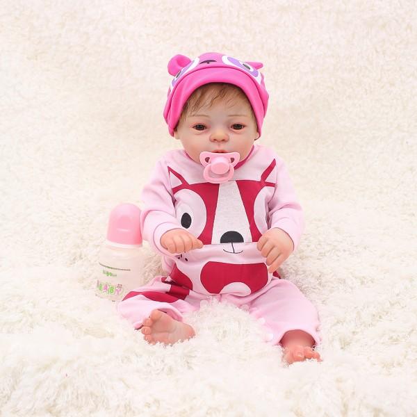 Lifelike Reborn Girl Baby Doll Realistic Silicone Vinyl Poseable Girl Doll 20inch