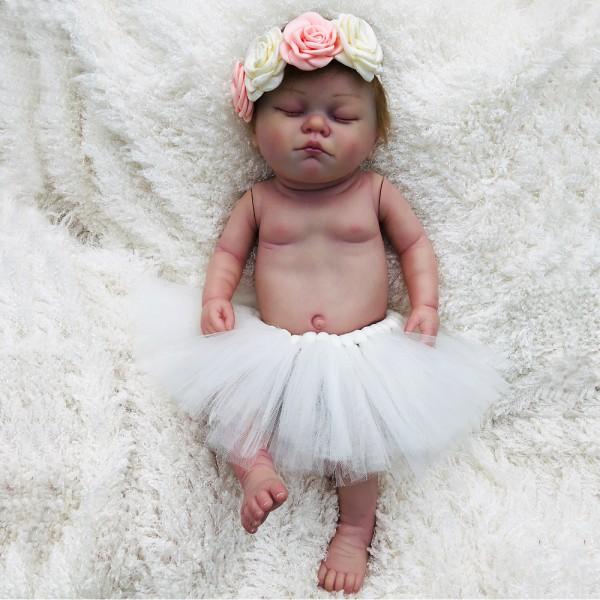 Reborn Sleeping Girl Realistic Newborn Lifelike Silicone Baby Doll 20inch