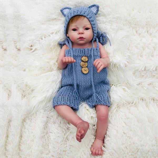 Silicone Vinyl Reborn Girl Doll Lifelike Realistic Baby Doll 22inch
