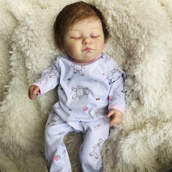 Lifelike Reborn Sleeping Girl Realistic Newborn Silicone Baby Doll 20inch