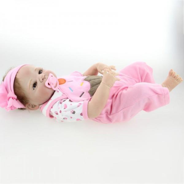 Lifelike Reborn Girl Doll Realistic Silicone Newborn Baby Doll 23inch