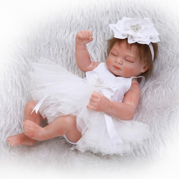 Lifelike Sleeping Reborn Girl Doll Poseable Silicone Preemie Baby Doll 10inch