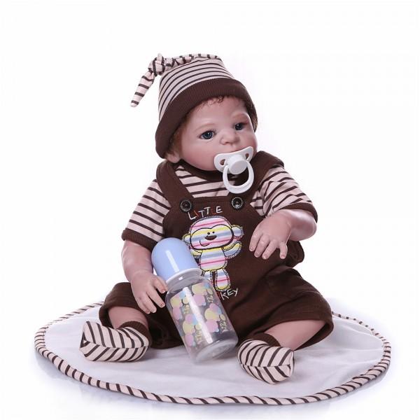 Lifelike Reborn Baby Girl Doll Realistic Silicone Vinyl Poseable Girl Doll 18inch