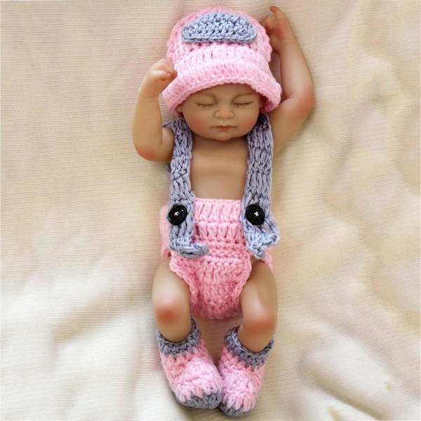 Silicone Sleeping Reborn Baby Doll Realistic Lifelike Preemie Girl Doll 10inch