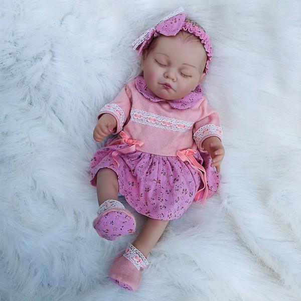 Realistic Reborn Sleeping Girl Newborn Lifelike Silicone Baby Doll 20inch
