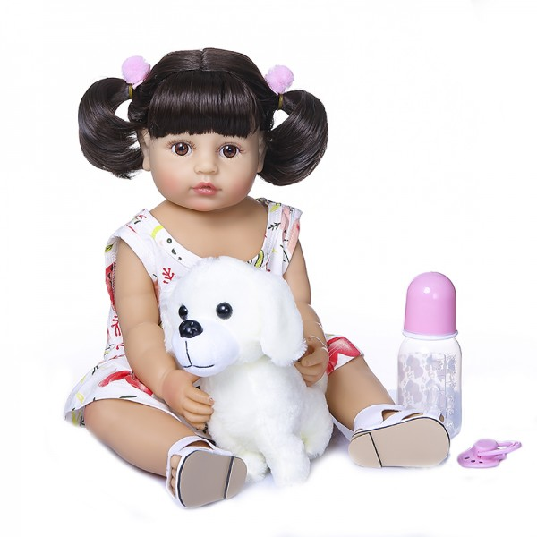 Real Reborn Baby Toddler Full Body Silicone Doll Girl 22inches