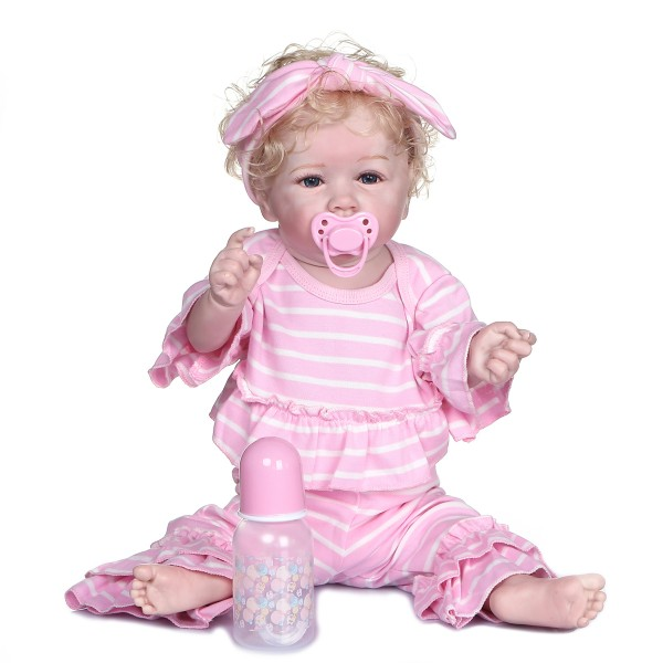 Affordable Full Body Silicone Baby Waterproof Realistic Baby Doll 22inche