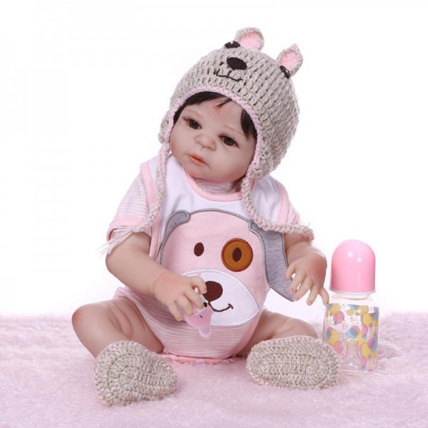 Poseable Silicone Reborn Baby Girl Doll Lifelike Realistic Girl Doll 20inch