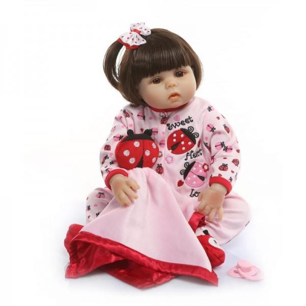 Realistic Reborn Girl Doll Newborn Lifelike Poseable Silicone Baby Doll 19inch
