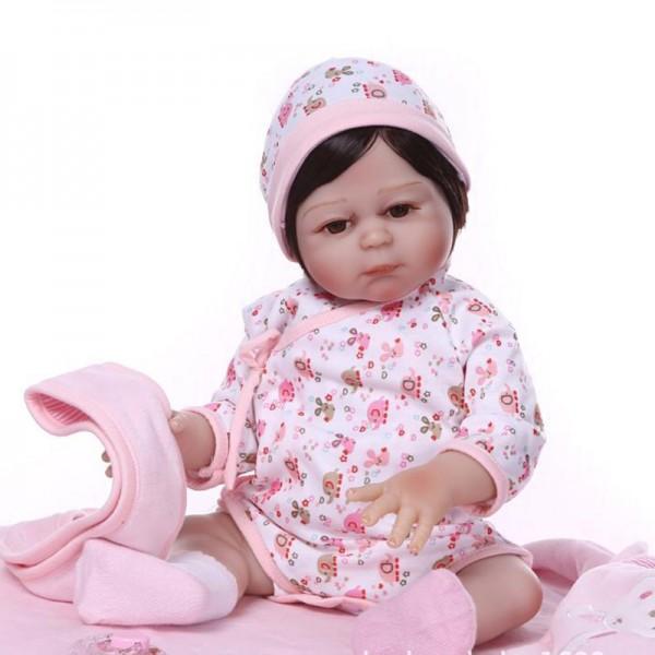 Realistic Reborn Baby Girl Doll Newborn Lifelike Poseable Silicone Baby Doll 19inch