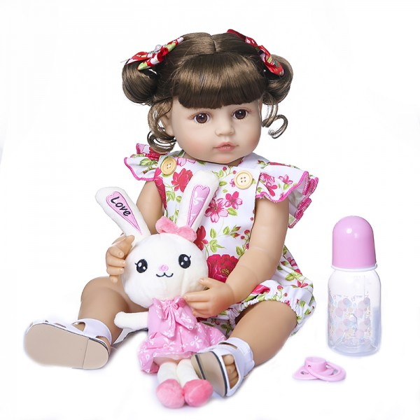 Full Body Silicone Soft Real Touch Princess Doll Original Reborn Toddler Girl 22 Inche