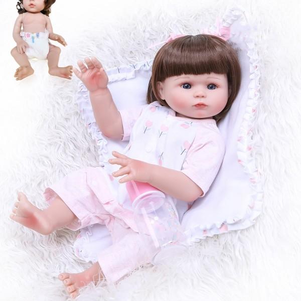 Lovely Full Body Handmade Soft Silicone Reborn Baby Doll 19inche