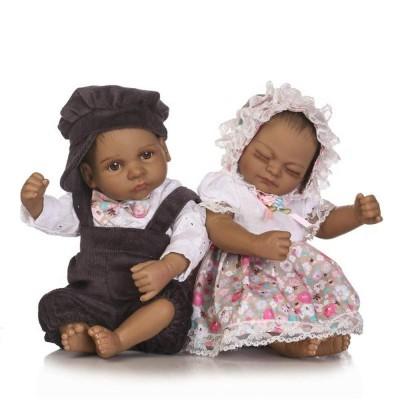 16 inch Reborn Twins Dolls Boy+Girl Baby Real Life Reborn Newborn Baby Dolls Toy